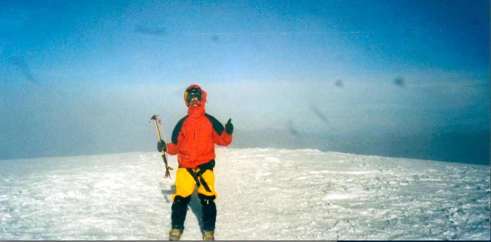 Sanil Rege on Cotopaxi summit